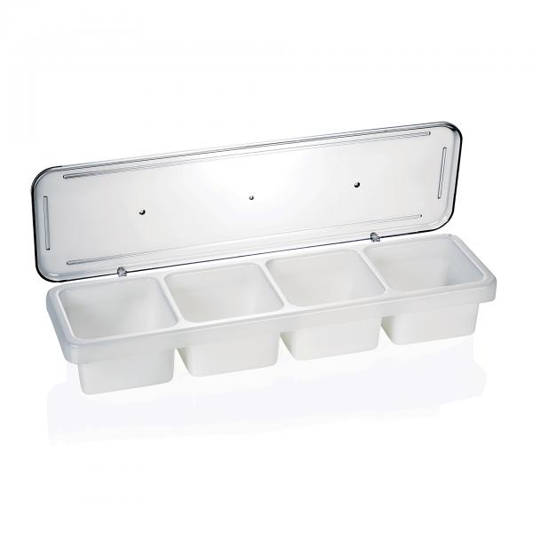 Zutatenbehälter mit vier Einsätzen á 0,6 ltr., Polypropylen/Polycarbonat
