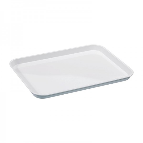 Serviertablett Polysterol weiß 40x30cm