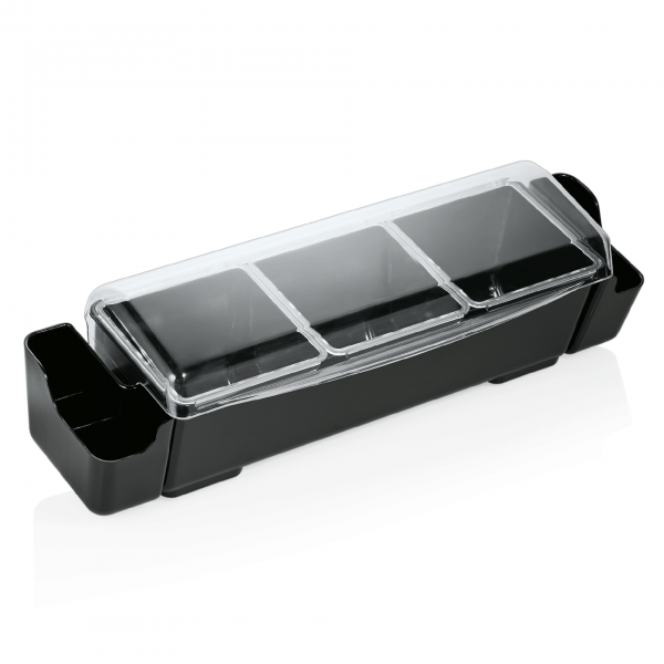 Zutatenbehälter mit drei Einsätzen á 1,5 ltr., ABS Kunststoff/Polycarbonat