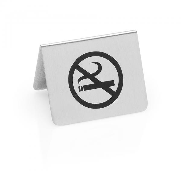 Nichtraucherschild, 5,5 x 5 x 3,5 cm, Chromnickelstahl