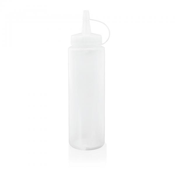 Quetschflasche, 230 ml, transparent, mit Verschlusskappe, PE