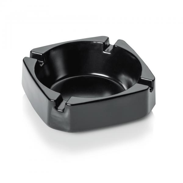 Aschenbecher, 9,2 x 9,2 cm, schwarz, Melamin