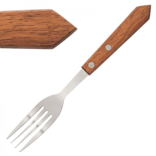 Olympia Steakgabeln mit Holzgriff 12 Stück