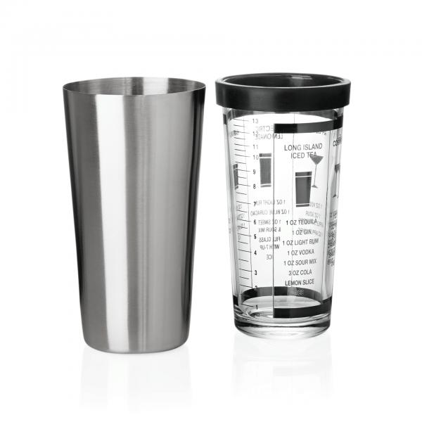 Boston Shaker mit Mixing-Glas, 0,60 ltr., Chromnickelstahl