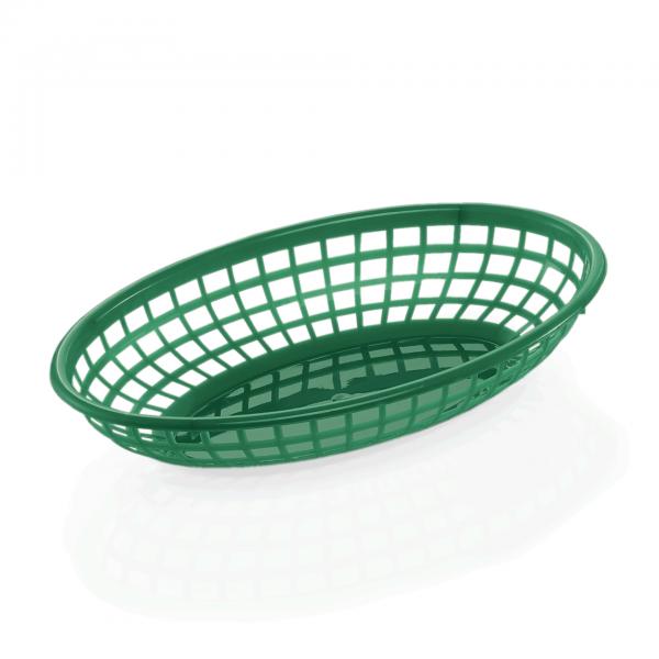 Tischkorb, 23 x 15 x 4,5 cm, grün, Polyethylen