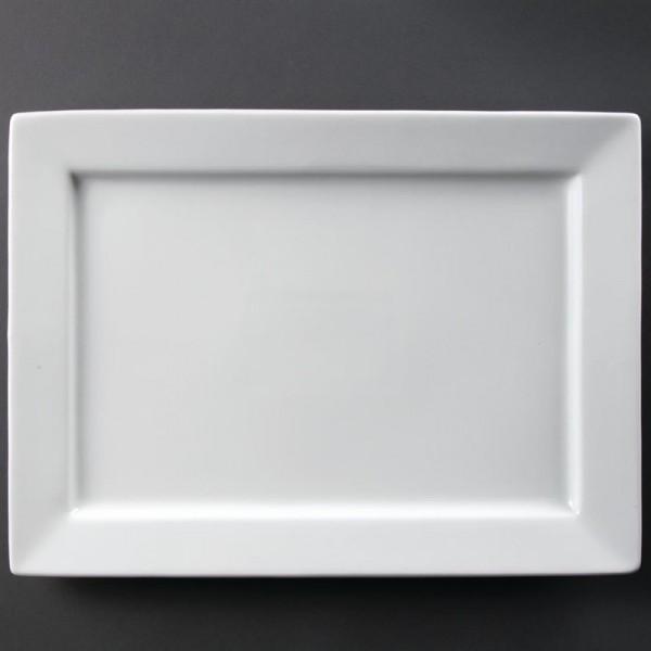 Olympia Whiteware rechteckiger Servierteller 40 x 29,5cm