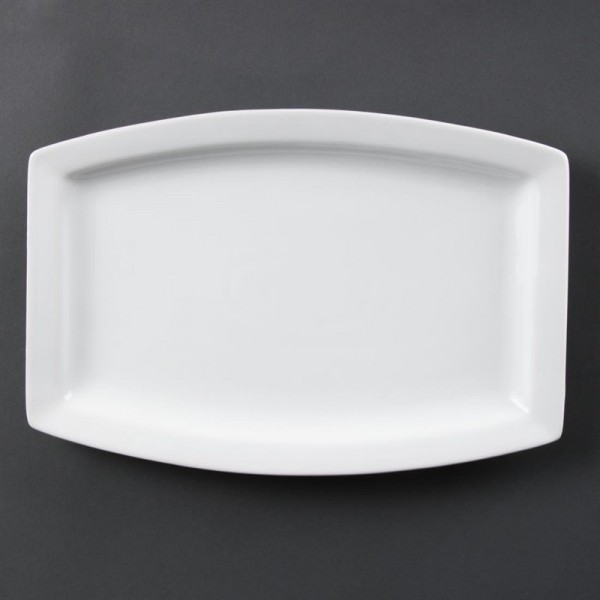 Olympia Whiteware rechteckige Teller 32 x 21cm 6 Stück