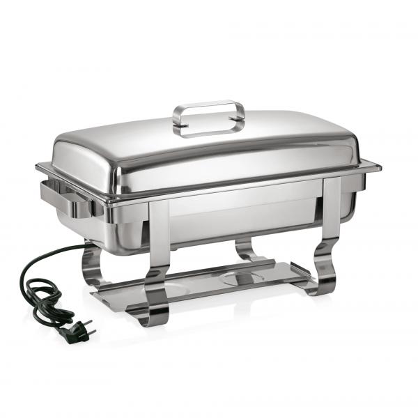 Elektro Chafing Dish GN 1/1 mit Domdeckel, 61 x 35 35 cm, Chromnickelstahl