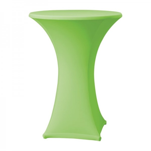 Tischhusse für Stehtische Samba D1 apfelgrün 85cm