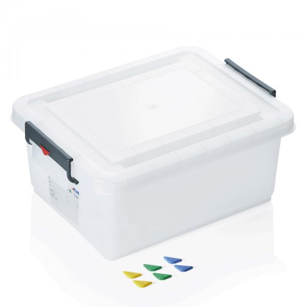 Lebensmittelbehälter mit Deckel, 40 ltr., 53 x 39,6 x 22,5 cm, Polypropylen