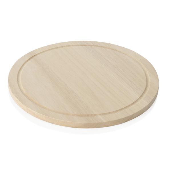 Pizzateller mit Saftrille, Ø 28 cm, Holz