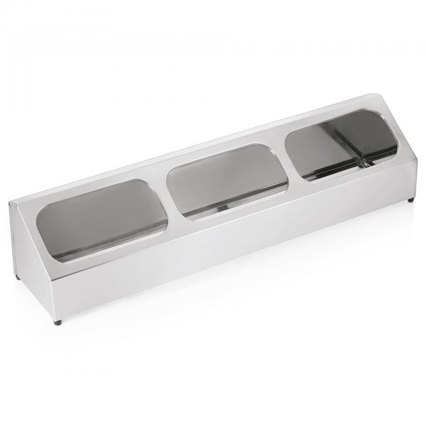 Systemteiler für GN 1/6 & 1/3, 99 x 23 cm, Chromnickelstahl