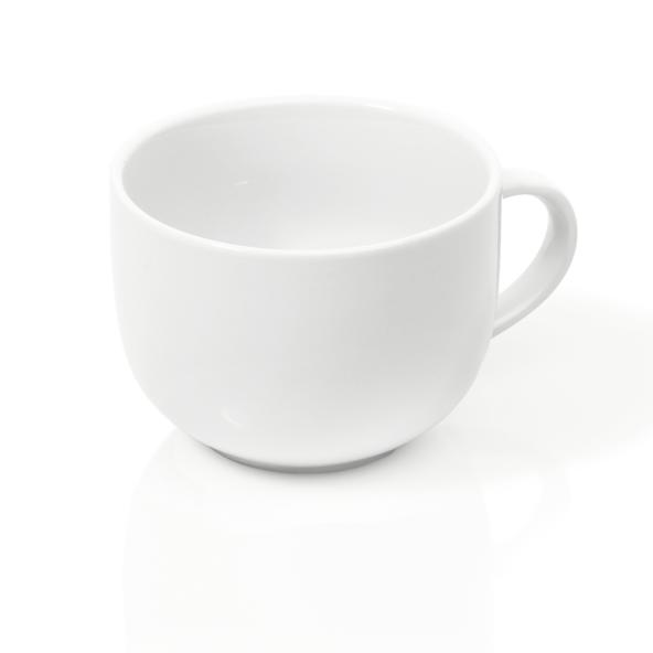 Milchkaffee Tasse, 0,45 ltr., Porzellan