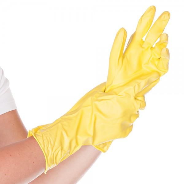 Allzweckhandschuhe Gr. M Gelb allergief. Universalhandschuh 10 Paar