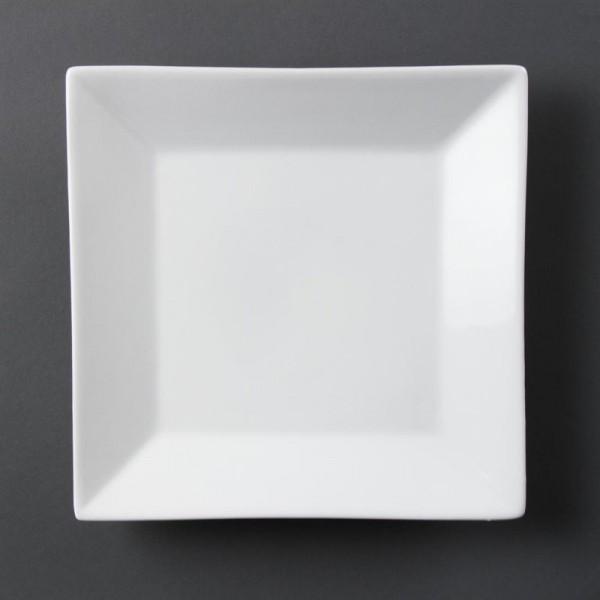 Olympia Whiteware quadratische Teller 25cm 6 Stück