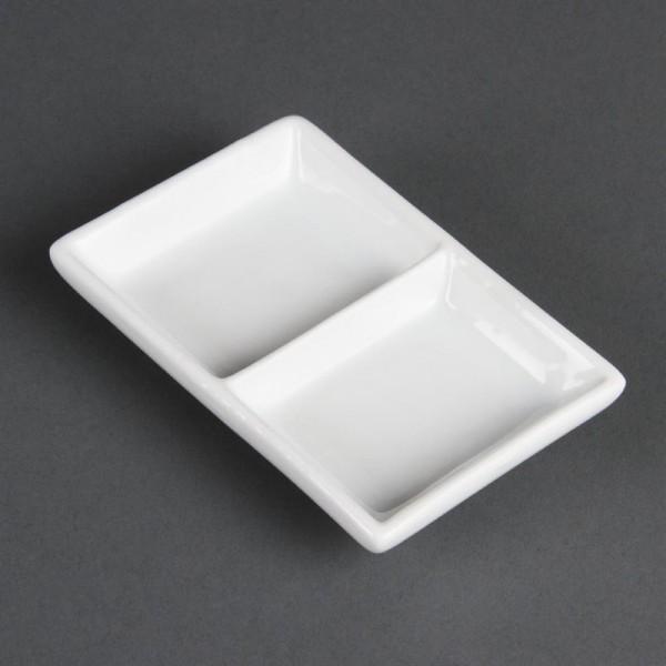 Olympia Whiteware zweifache Präsentierschalen 12 Stück