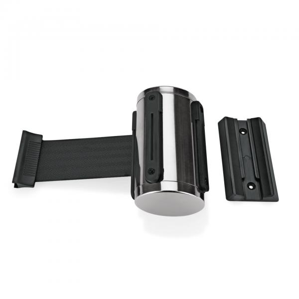 Gurtband Highflex für Wandmontage, 2 m, schwarz, inkl. Wandhalter