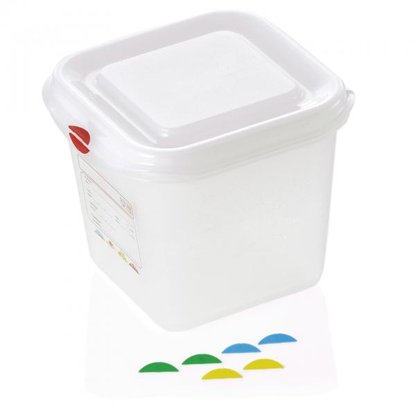 GN Behälter 1/6-150 mm, mit Deckel, Polypropylen