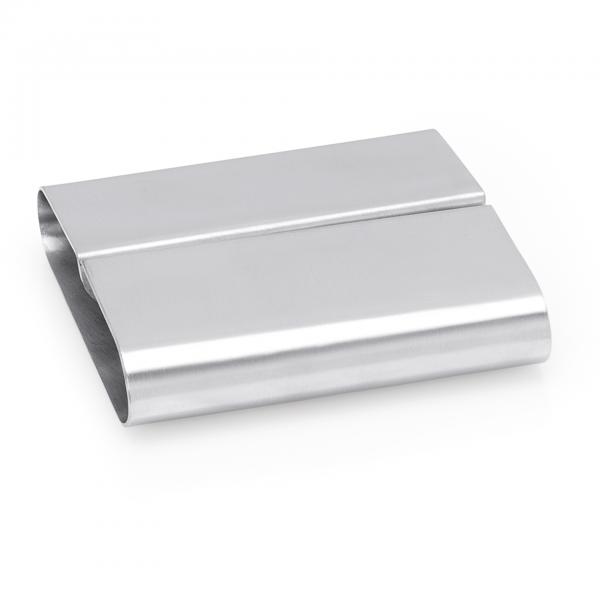 Kartenhalter, 8 x 7,5 x 2,2 cm, Chromnickelstahl