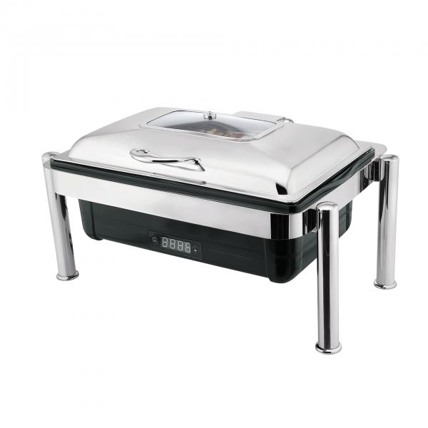 Elektro Chafing Dish GN 1/1, 67 x 46 x 37,5 cm, Kunststoff/Chromnickelstahl