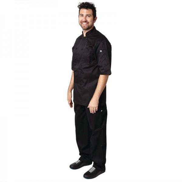 Chef Works Montreal Kochjacke kurze Ärmel schwarz XXL
