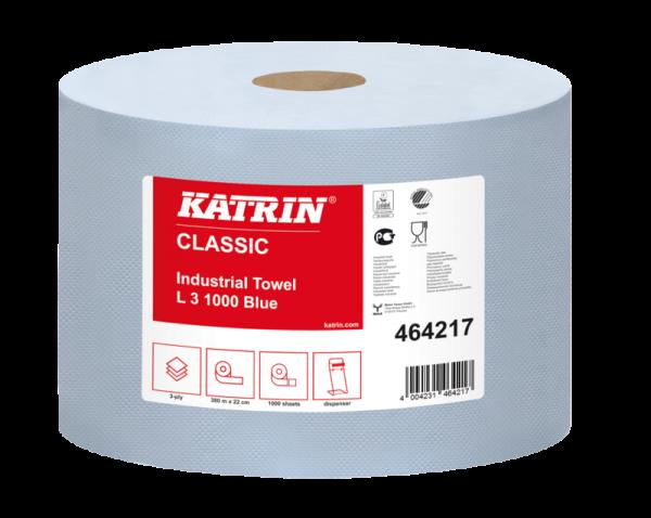 Katrin Classic L3 blue Putztuchrolle 3-lagig