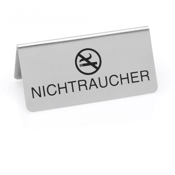 Nichtraucherschild, 10 x 5 x 5 cm, Chromnickelstahl