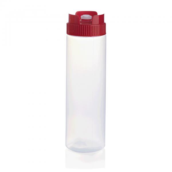 Quetschflasche mit Silikonventil, 0,75 ltr., transparent, Polyethylen