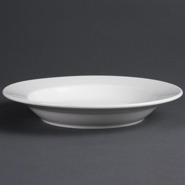 Olympia Whiteware tiefe runde Teller 27cm 6 Stück