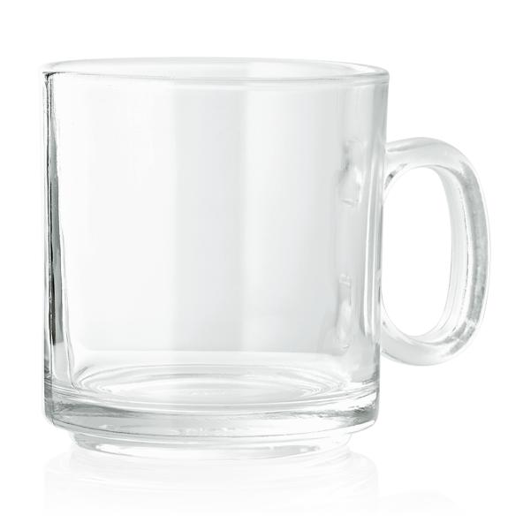 Becher mit Henkelgriff, 0,28 ltr., Glas