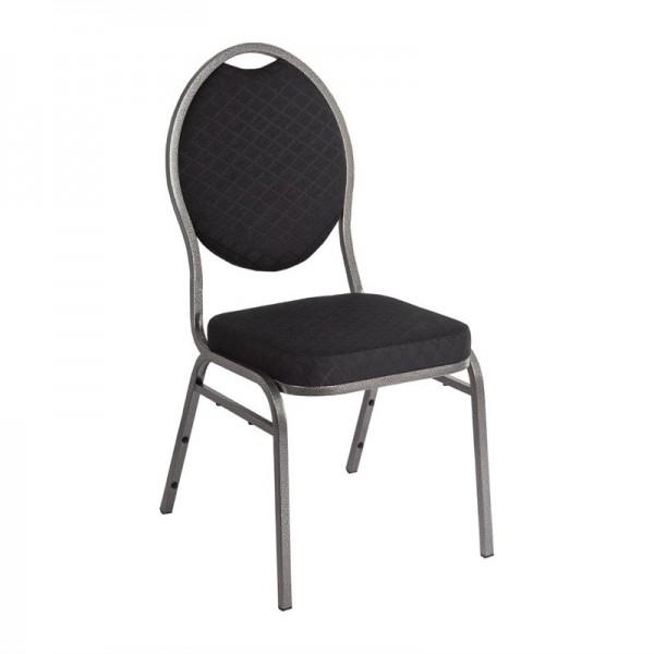 Bolero Bankettstühle mit ovaler Lehne schwarz 4 Stück