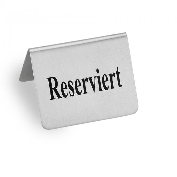 Reserviertschild, 5 x 4 x 3,5 cm, Edelstahl