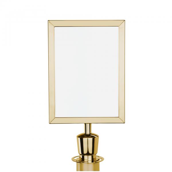 Schilderhalter DIN A4 mit Zylinder, goldfarben, Edelstahl