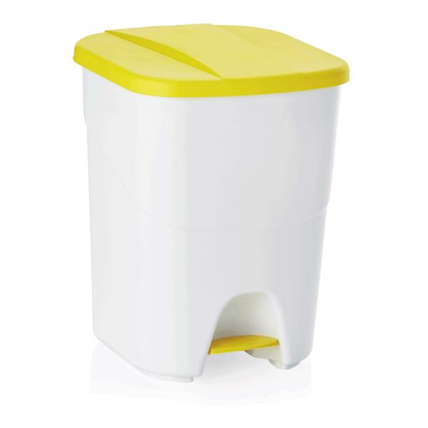 Treteimer mit gelbem Deckel, 40 ltr., Polypropylen