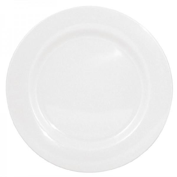 Kristallon Teller mit breitem Rand weiß 25,4cm 6 Stück