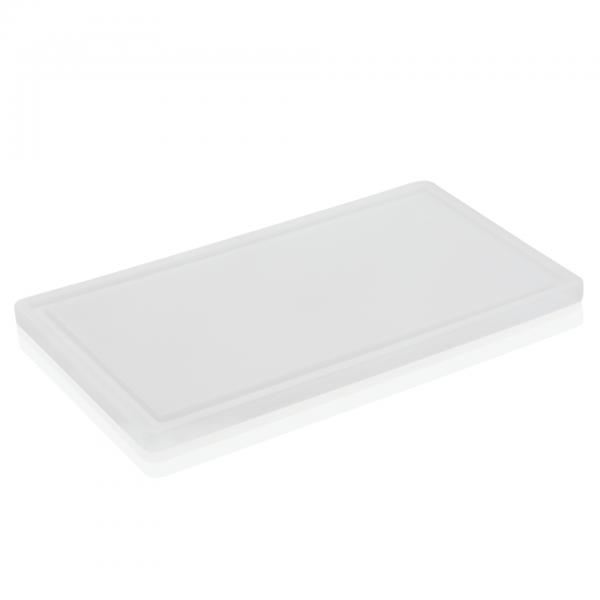 Schneidbrett mit Saftrille, 60 x 40 x 2 cm, Polyethylen