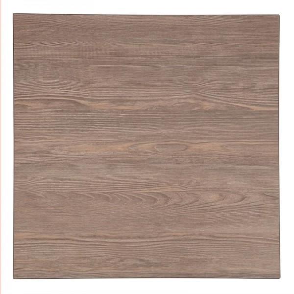 Bolero quadratische Tischplatte Vintage Holz 70cm