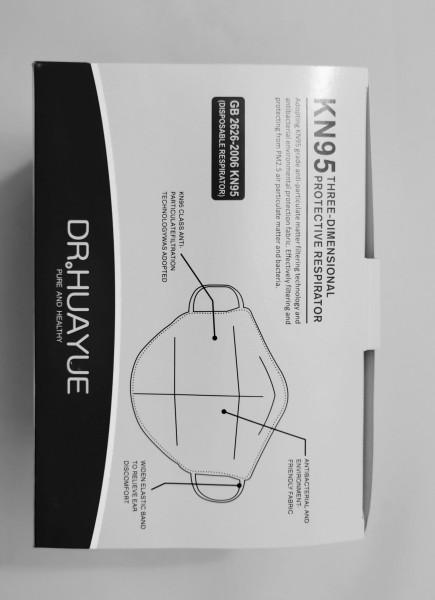 DR. HUAYUE Atemschutzmaske KN95-FFP2 ohne Ventil