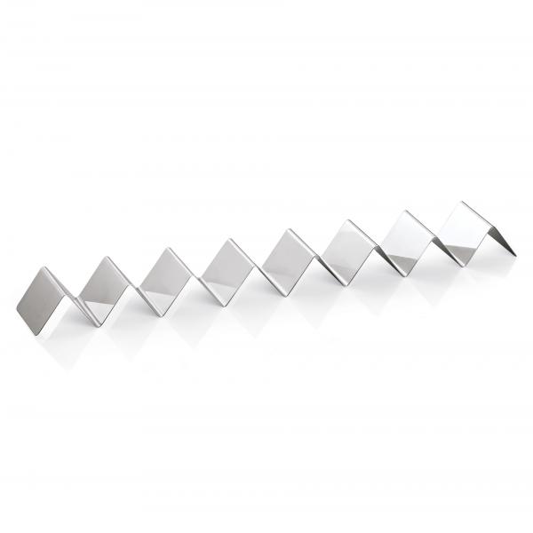 Snackwelle mit sieben Ablagen, 57 x 8 x 4,5 cm, Chromnickelstahl
