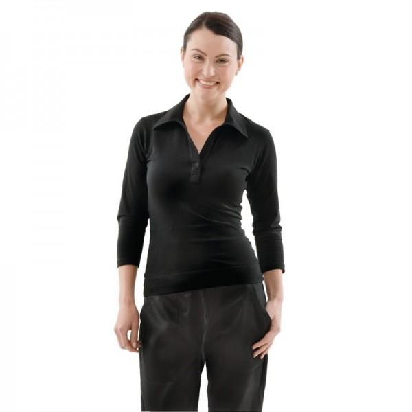 Chef Works Damen T-Shirt mit V-Ausschnitt schwarz S