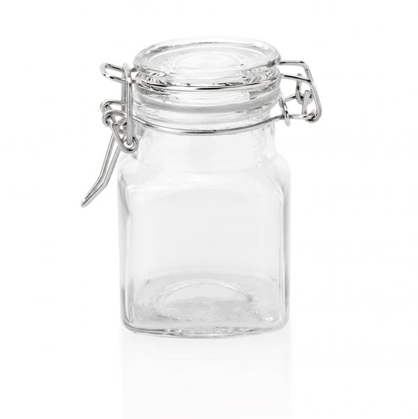 Petit-Bügelverschlussglas, 0,10 ltr., 5 x 5 x 8 cm Glas