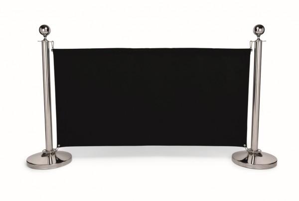 Sichtschutz, 140 x 70 cm, schwarz