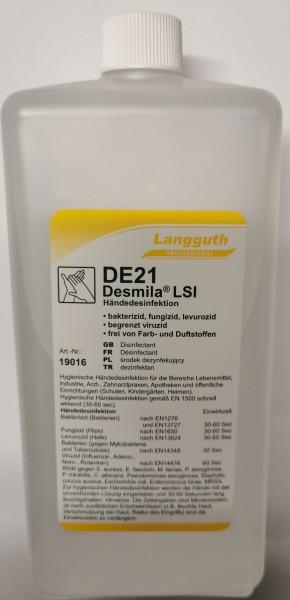 DE21 Desmila® LSI Händedesinfektion IHO gelistet 1 Ltr. begrenzt viruzid plus Euroflasche
