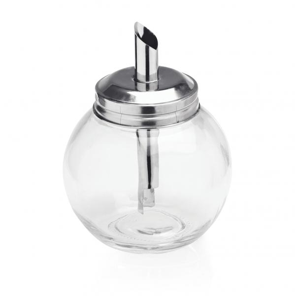 Zuckerspender, 0,26 ltr., Glas/Edelstahl