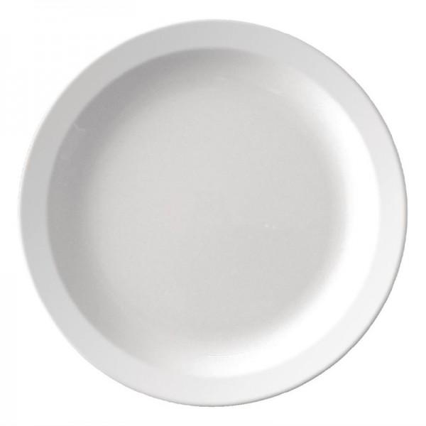 Kristallon Teller mit schmalem Rand weiß 23cm 12 Stück