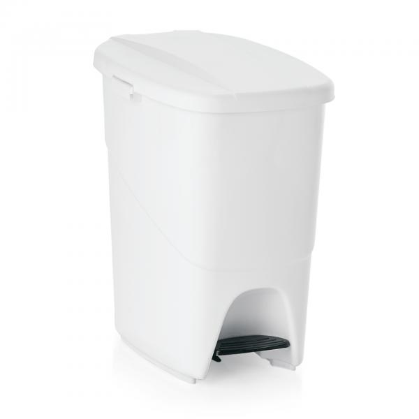Treteimer mit weißem Deckel, 25 ltr., Polypropylen