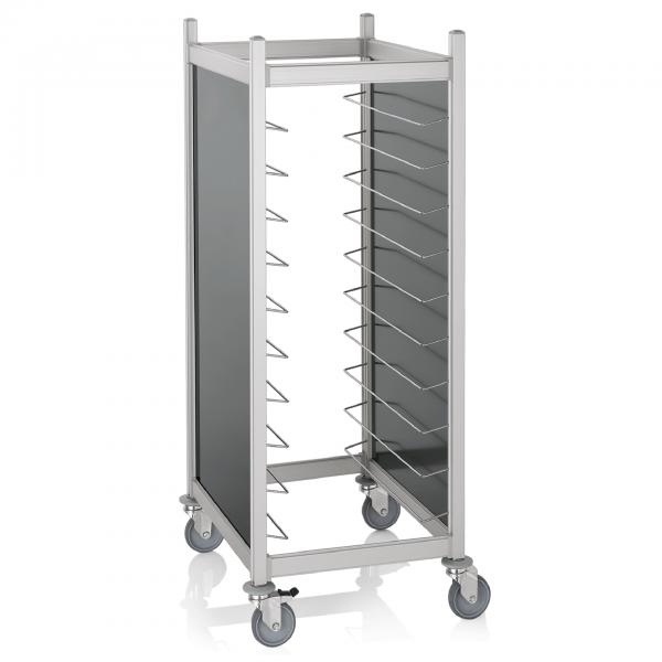Tablettwagen für 20 GN 1/1 Tabletts, RAL 9005 schwarz, Aluminium