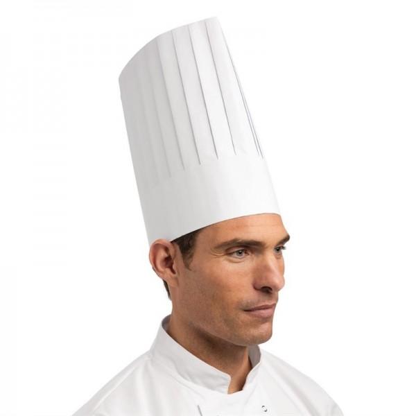 Plastico Einweg-Kochmütze Papier hoch 50 Stück