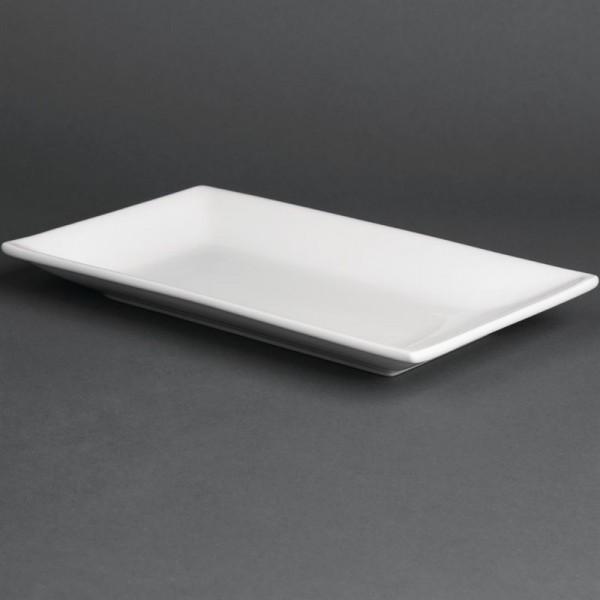 Olympia Whiteware rechteckige Servierteller 25 x 15cm 4 Stück