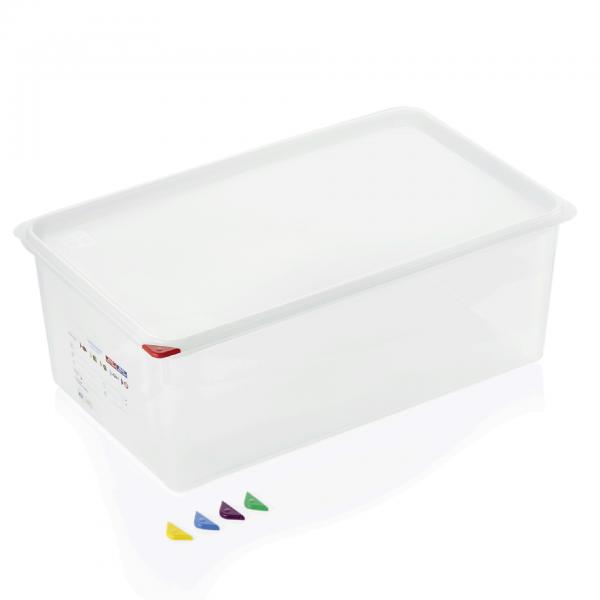 GN Behälter 1/1-200 mm, mit Deckel, Polypropylen